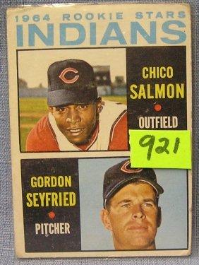 Vintage 1964 Indians Rookie Baseball Card