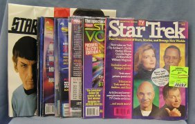 Collection Of Star Trek Mags And Collectibles