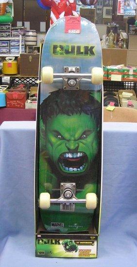 Vintage Incredible Hulk Skate Board