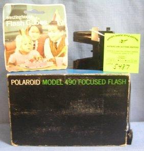 Vintage Polaroid Model 490 Focus Flash Kit