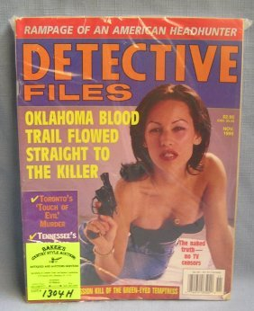 Group Of Vintage Detective Magazines