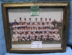 Vintage Ny Mets World Championship Team Photo