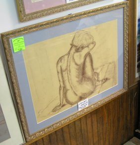 Charcoal Nude Art Work