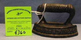 Miniature Cast Iron Clothes Iron Souvenir