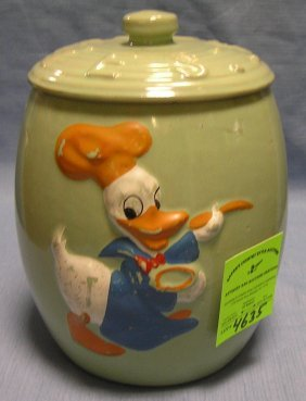 Donald Duck Cookie Jar By Walt Disney Prod.