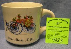 Vintage Deer Park Ny Fireman's Shaving Mug