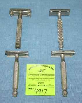 Collection Of Antique Double Edged Razors