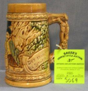 Vintage Porcelain Beer Stein Old Pub Scene