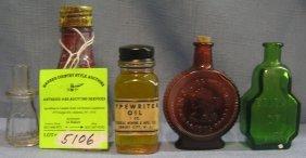Group Of Five Vintage Bottles
