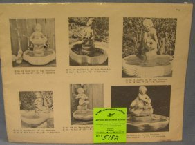Vintage Catalog Of Outdoor Statuary, Furniture And More