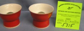 Pair Of Unusual Japanese Sake Cups
