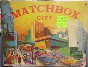 Vintage Matchbox City Play Set