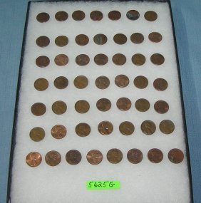 Vintage Lincoln Memorial Copper Pennies