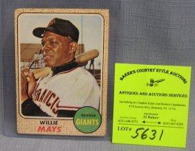 Vintage Topps Willie Mayes Baseball Card