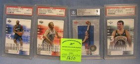 Group Of Four Graded Basketball Cards