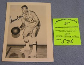 Autographed Jerry West Basketball Photo
