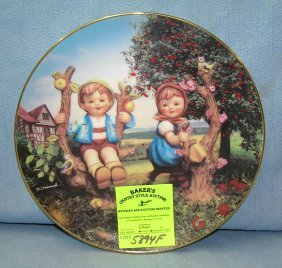 Hummel Apple Tree Boy And Girl Collector's Plate