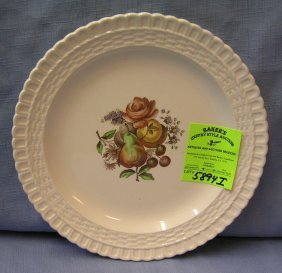Early Fruit Decorated Serving Plate