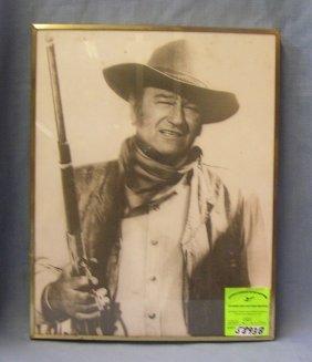 Vintage John Wayne Framed Photo