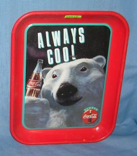 Classic Coca Cola Bear Serving Tray