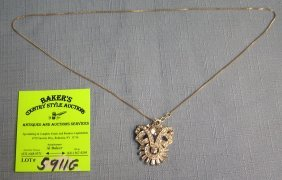 Sterling Silver Necklace With Markesite Stones