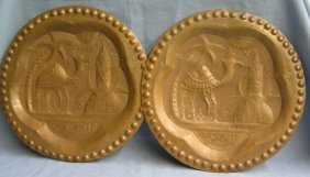 Hand Hammered Solid Copper Antique Wall Plaques