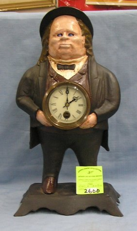 Cast Iron Town Squire Blinking Eye Clock
