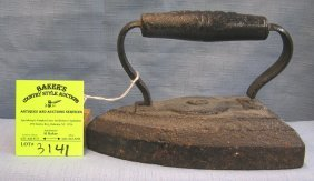 Antique Cast Iron Clothes Iron