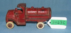 Early Cast Iron Oil Truck