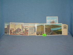 Group Of Vintage Auto Related Post Cards