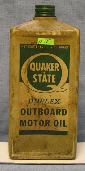 Quaker State Outboard Motor Oil Container