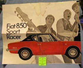 Vintage Fiat 850 Sport Racer Advertising Poster