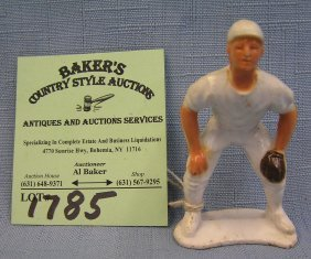 Miniature Hard Plastic Baseball Player
