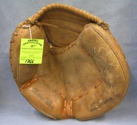 Vintage Leather Spalding Catcher's Mitt