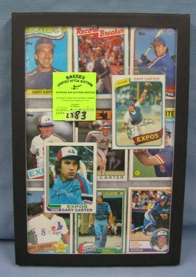 Collection Of Vintage Gary Carter Baseball Cards