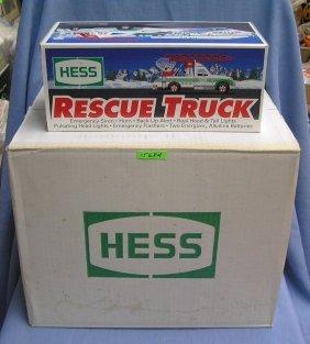 Unopened Case Of Hess 1994 Rescue Trucks