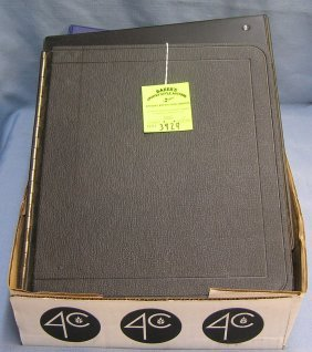 Box Full Of Vintage Collectible Binders And Pages