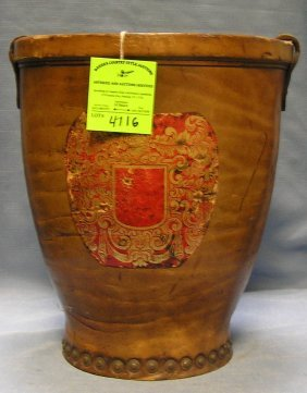 Antique Leather English Fire Bucket