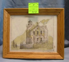 Artist Signed Shelter Island Map Style Print