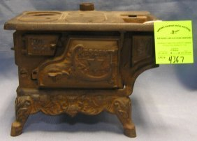 Early Cast Iron Crescent Salesman Sample Stove