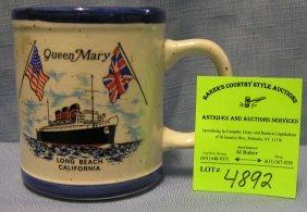 Vintage Queen Mary Ocean Liner Shaving Mug