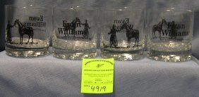 Evan Williams Kentucky Whisky Advertising Glasses