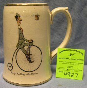 Early Penny Farthing High Wheel Bicycle Advertising