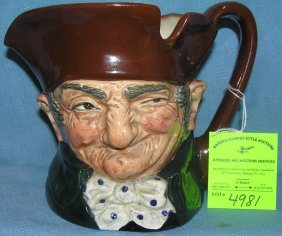 Large Vintage Royal Dalton Character Toby Mug
