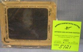 Antique Benjamin Franklin Glass Magic Lantern Slide