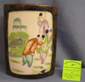 Asian Decorated & Enameled Jewelry Or Trinket Chest
