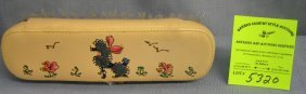 Vintage Poodle Decorated Brush And Sewing Kit