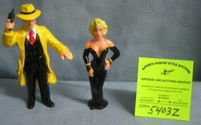 Pair Of Vintage Dick Tracy Toys