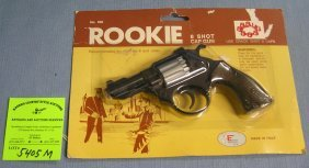 Rookie Policeman's Eight Shot Revolver Cap Gun Mint On