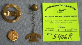 Group Of Vintage Telephone Company Pins